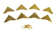 8pc. Shiny Gold Box Corners with Screws