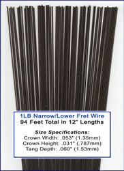 1LB Bulk Fret Wire - NARROW/LOWER Nickel-Silver