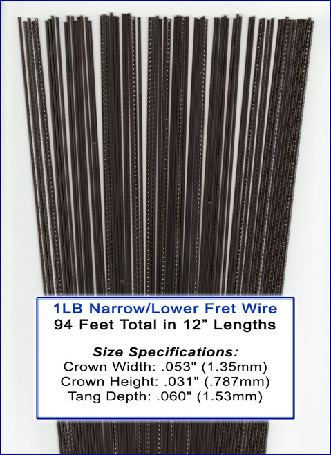 1lb bulk fret wire narrow lower nickel silver c b gitty crafter supply. Black Bedroom Furniture Sets. Home Design Ideas