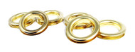 6-pack Large 1.5-inch Brass Grommets w/Washers