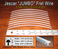 Jescar Jumbo Nickel-Silver Fret Wire (6 ft)