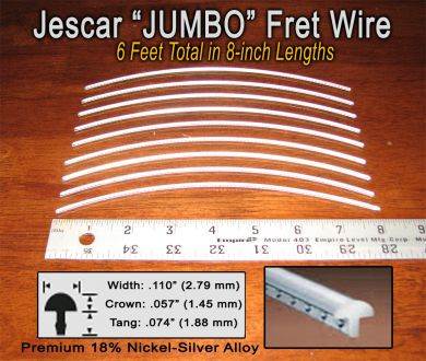 jescar jumbo nickel silver fret wire 6 ft c b gitty crafter supply. Black Bedroom Furniture Sets. Home Design Ideas