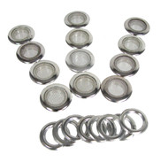 12pc 1-inch Screened Nickel Grommets