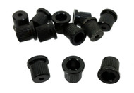 12pc. Black Cup-style String Ferrules
