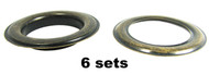 """6-pack Large (1.5"""") Antique Brass Grommets w/Washers"""