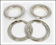 6-pack Large (1.5-inch) Nickel-Plated Grommets w/Washers