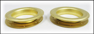 2-pack Large (1.5-inch) Satin Brass Grommets w/Washers