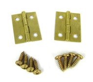2pc. Small Square Brass Hinges