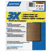 "Norton 02637 3X Sandpaper 180 Grit 9"" x 11"" (Pack of 20)"