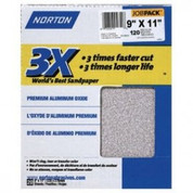 "Norton 02639 3X Sandpaper 120 Grit 9"" x 11"" (Pack of 20)"