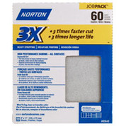 "Norton 02642 3X Sandpaper 60 Grit 9"" x 11"" (Pack of 20)"