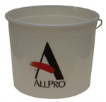 5qt Clear Plastic Pail w/ Steel Ring (case of 24)