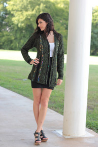 The Classic Color Sweater Jacket - Green