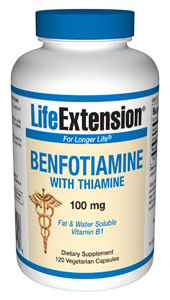 Benfotiamine with Thiamine is a low-cost dietary supplement that can help maintain blood sugar levels in those already within normal range and support the health of the nerves, kidneys, eyes, blood vessels, and heart.