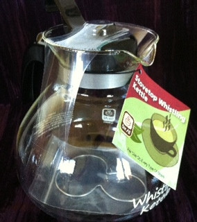 glass tea pot for Reishi Tea