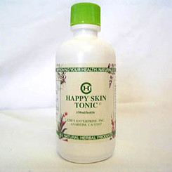 Happy Skin Tonic 150ml Each bottle of Happy Skin Tonic contains: Cnidium monnieri 15% Sophora falvescens 12% Atractylode lancea 9% Artemesia argyri 6% Ligustici sinensis 6% Phellodendron chinense 6% Rubus chingii 6% Distilled water 40%