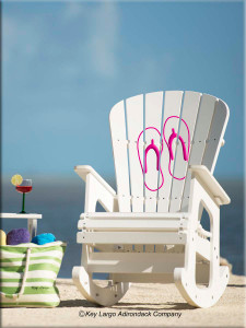 Outdoor Patio Rocking Chair with Flip Flops