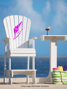 Outdoor Patio Lifeguard Chair - Conch Shell