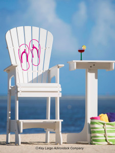 Outdoor Patio Lifeguard Chair - Flip Flops