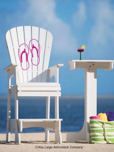 Outdoor Patio Lifeguard Chair - Flip Flops