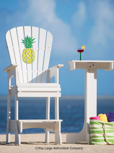 Outdoor Patio Lifeguard Chair - Pineapple