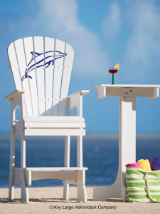 Outdoor Patio Lifeguard Chair - Porpoise Jumping - JM Design