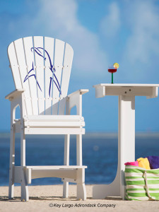 Outdoor Patio Lifeguard Chair - Porpoise Upright - JM Design