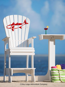 Outdoor Patio Lifeguard Chair - Redfish - JM Design