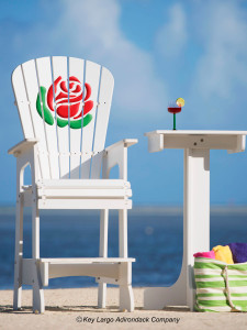 Outdoor Patio Lifeguard Chair - Rose