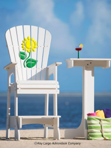 Outdoor Patio Lifeguard Chair - Sunflower