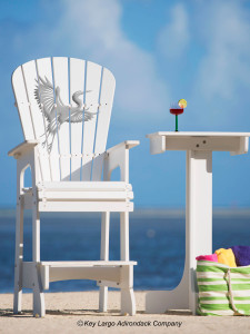 Outdoor Patio Lifeguard Patio Chair - White Heron - JM Design