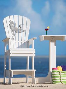 Outdoor Patio Lifeguard Patio Chair - White Heron - JM Design