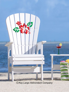 High Top Patio Chair - Hibiscus