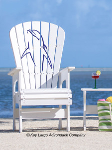 High Top Patio Chair - Porpoise Upright - JM Design