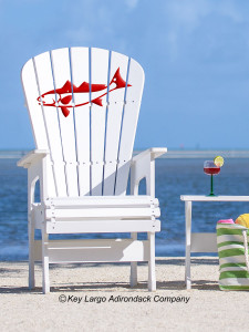 High Top Patio Chair - Redfish - JM Design