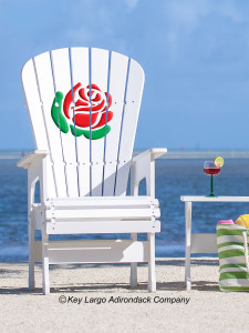 High Top Patio Chair - Rose
