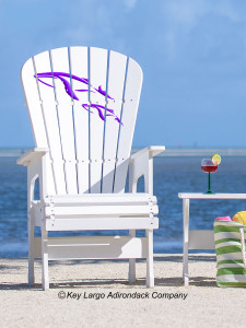 High Top Patio Chair - Whales - JM Design