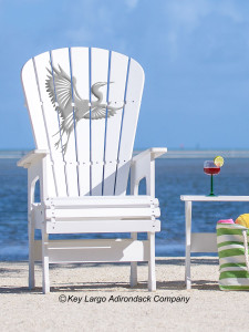 High Top Patio Chair - White Heron - JM Design