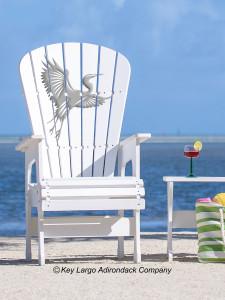 High Top Patio Chair - White Heron - JM Design
