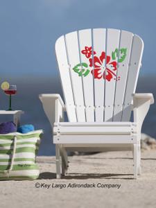 Hibiscus Adirondack Chair