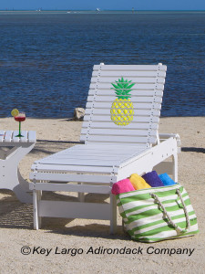 Outdoor Patio Chaise Lounge - Pineapple