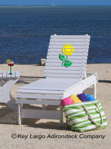 Outdoor Patio Chaise Lounge - Sunflower