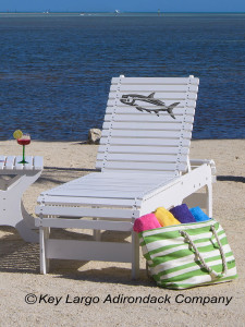 Outdoor Patio Chaise Lounge - Tarpon Fish - JM Design