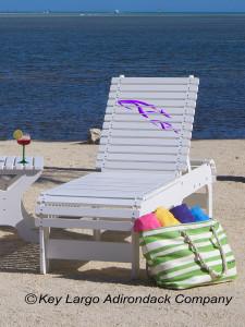 Outdoor Patio Chaise Lounge - Whales - JM Design