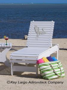 Outdoor Patio Chaise Lounge - White Heron - JM Design