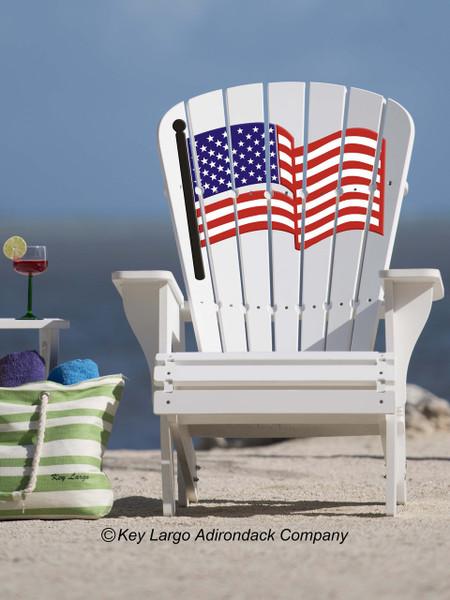 ... American Flag Adirondack Chair. Image 1