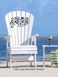 High Top Patio Chair - Music