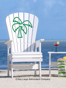 High Top Patio Chair - Palm Tree