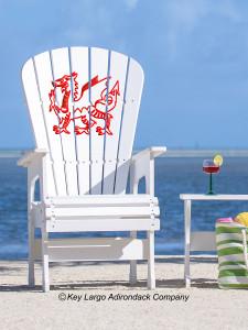 High Top Patio Chair - Welsh Dragon