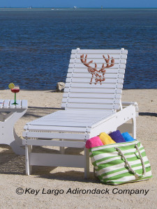 Outdoor Patio Chaise Lounge - Deer Head